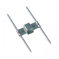 Clip brocheta doble 12x12mm pos. de montaje interior pincho 2x60mm