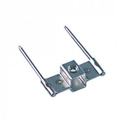 Clip brocheta simple 12x12mm pos. de montaje exterior pincho 75mm