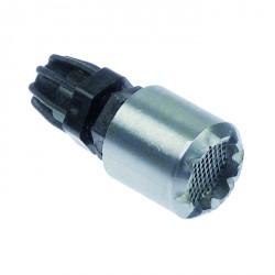 Flltro recipiente con pesa acero inoxidable tubo 4x6mm