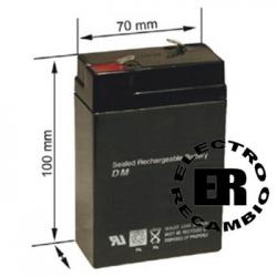 Batería plomo 6 voltios 4Ah